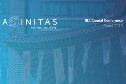 Affinitas delegation to participate in 2019 IBA Annual Conference in Seoul